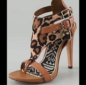Sam Edelman Lucia leopard print high heels